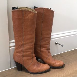 Madewell heeled leather boots size 6.5